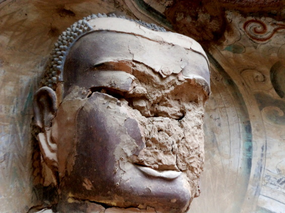 Cracked-faced Buddha