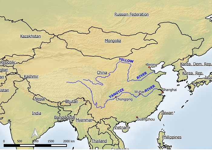 Middle East Rivers Map And Description Of All Land And Water Asia - Huang river world map